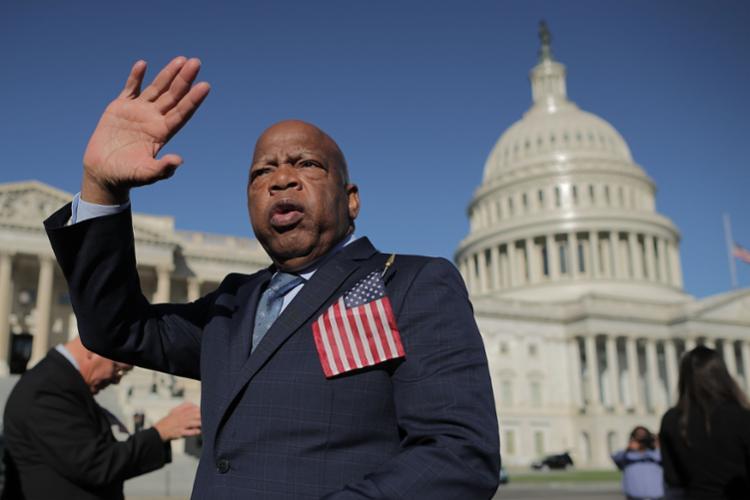John Lewis é aclamado como um dos maiores ativistas na luta pelos direitos civis nos Estados Unidos - Foto: CHIP SOMODEVILLA   AFP