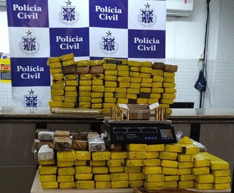 Segundo SSP, a droga seria distribuída no bairro de Sussuarana | Foto: Divulgação | SSP - Foto: Divulgação | SSP