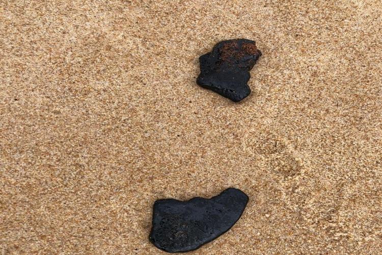 Manchas voltaram a aparecer no litoral da Bahia, desta vez entre as praias de Jacuípe e Canto do Sol | Foto: Divulgação - Foto: Divulgação