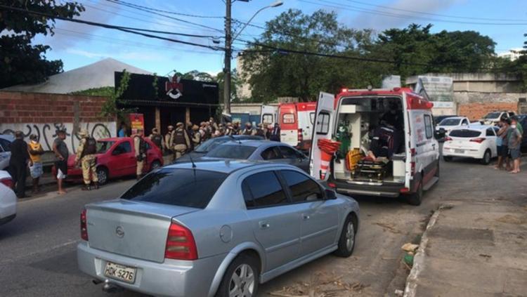 Tentativa de assalto aconteceu na tarde deste domingo | Foto: Renan Pinheiro | TV Bahia - Foto: Renan Pinheiro | TV Bahia