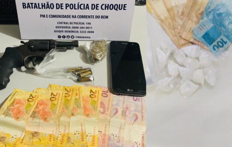 Segundo a SSP, outro criminoso foi preso na ação | Foto: Divulgação | SSP - Foto: Divulgação | SSP