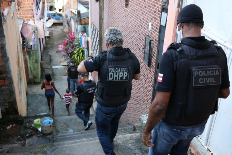 Imóveis estariam sendo usados para o tráfico de drogas | Foto: Alberto Maraux | SSP - Foto: Alberto Maraux | SSP