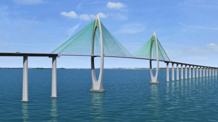 A ponte Salvador-Itaparica seja a segunda maior em extensão no Brasil, com 12,4 km - Foto: Reprodução
