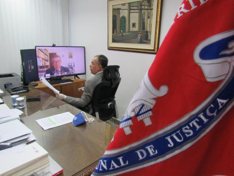 Audiência foi feita através de videoconferência | Foto: Reprodução | TJ-BA - Foto: Reprodução | TJ-BA