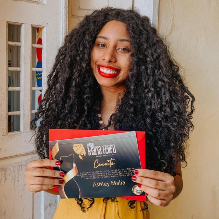 Ashley contou como se sentiu ao saber que seria premiada | Foto: Reprodução | Arquivo Pessoal - Foto: Reprodução | Arquivo Pessoal