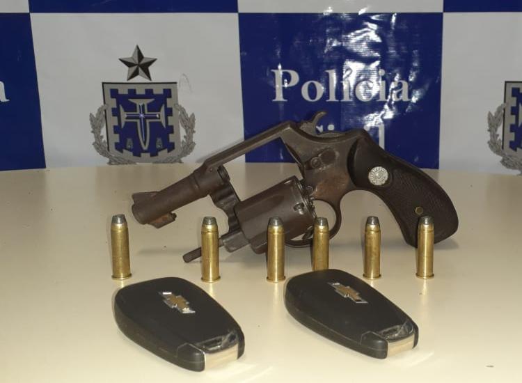Dois suspeitos estavam armados - Foto: Divulgação | SSP