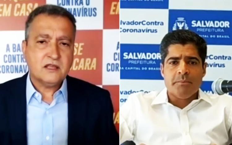 Governador Rui Costa e o prefeito ACM Neto explicam plano de retomada em Salvador - Foto: Reprodução