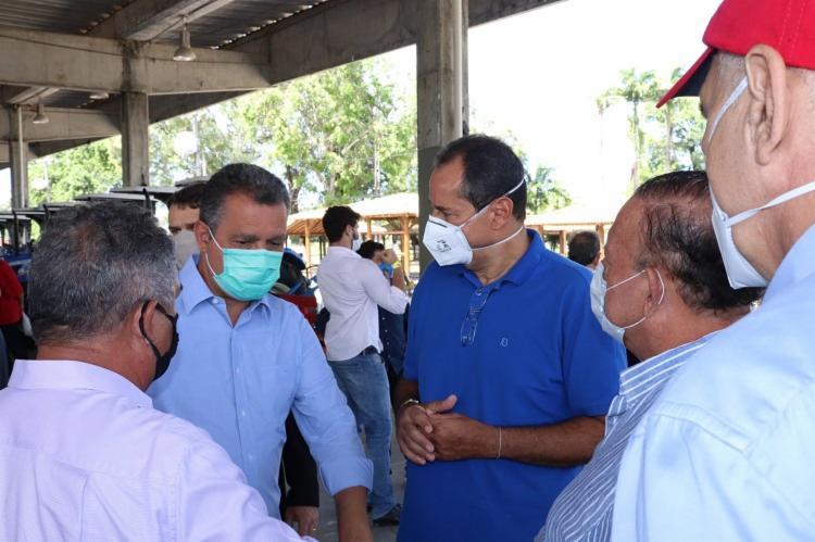 Governador se reuniu com Nelson Leal e Adolfo Menezes / Foto: Reprodução   Twitter - Foto: Reprodução   Twitter
