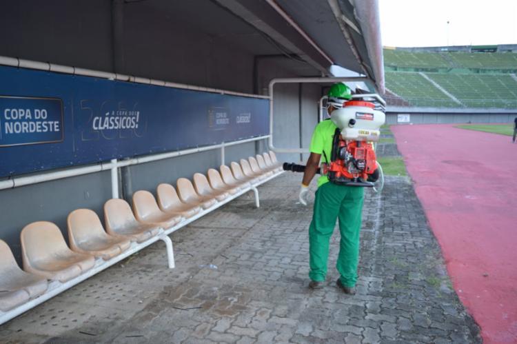 A próxima aplicação já está agendada, pois o estádio segue sediando os jogos do Campeonato Baiano   Foto: Divulgação - Foto: Divulgação
