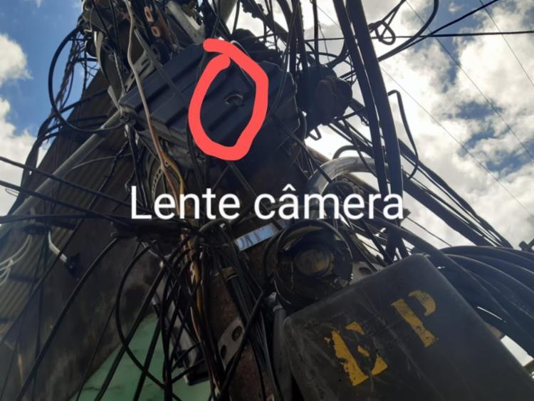 Quatro câmeras nas ruas do bairro da Liberdade eram utilizadas para acompanhar as viaturas | Foto: Divulgação | SSP-BA