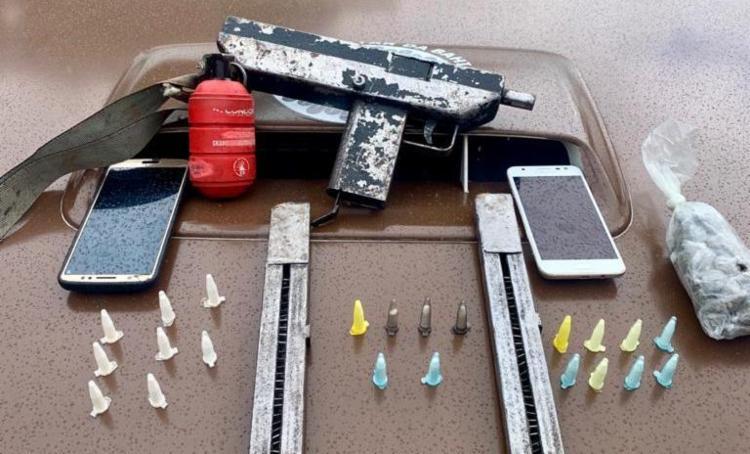 Um dos suspeitos foi preso e o outro morreu em confronto | Foto: Divulgação | SSP - Foto: Divulgação | SSP