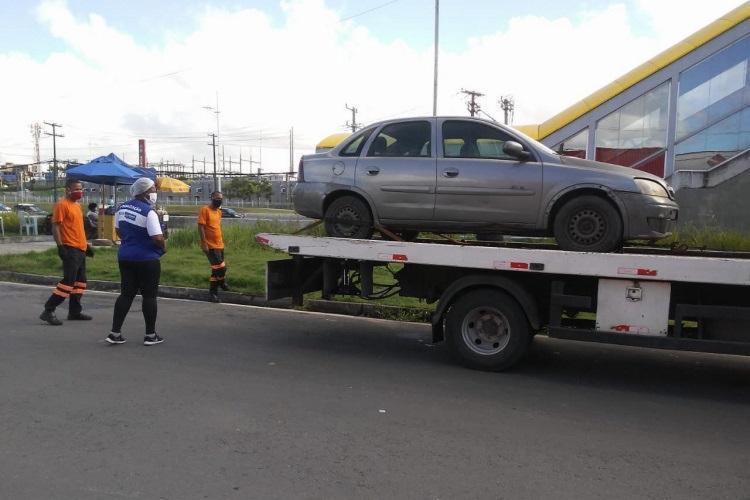 Os carros foram retirados do local e a aglomeração foi desfeita | Foto: Divulgação | Ascom Sedur - Foto: Divulgação | Ascom Sedur