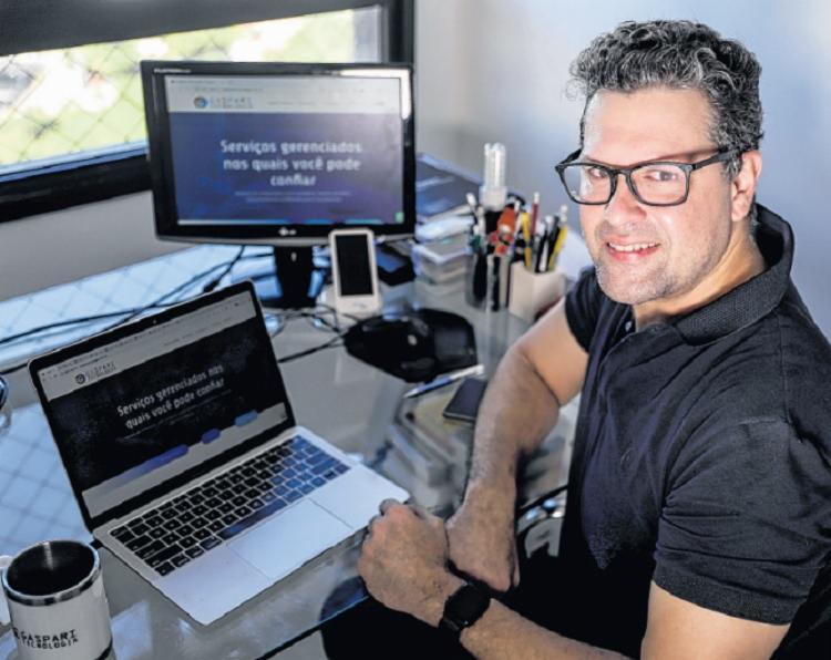 Luciano destaca o trabalho remoto e o armazenamento de dados - Foto: Uendel Galter   Ag. A TARDE