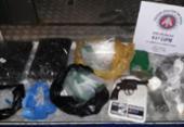 Irmãos são flagrados embalando drogas em Salvador | Foto: