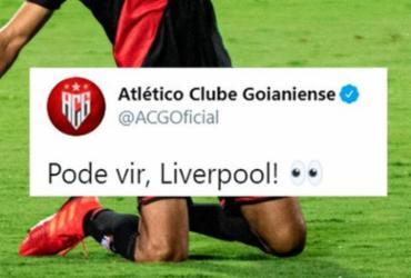 Presidente do Atlético-GO reprova post após goleada sobre o Flamengo   Reprodução   Twitter