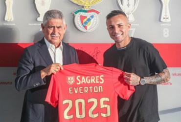 Benfica oficializa a contratação de Everton 'Cebolinha' | Divulgação | Benfica