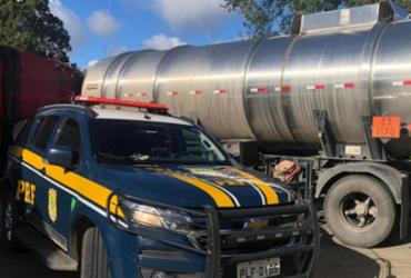 Homem é preso dirigindo carreta de combustível com nota fiscal fraudada