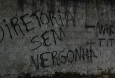 CT do Bahia é alvo de pichações após maus resultados | Reprodução | Twitter