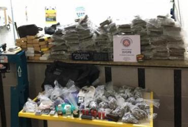 Homem é preso com cerca de 40 kg de drogas em Campinas de Pirajá   Divulgação   SSP