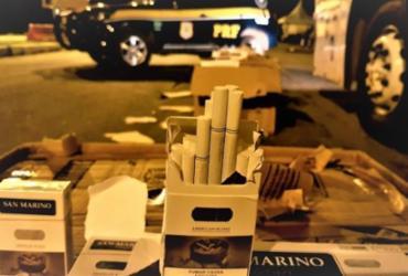Polícia apreende 5 mil cigarros paraguaios dentro de ônibus em Jequié