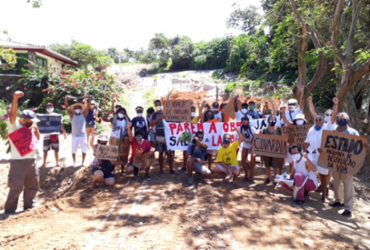 Moradores de Itapuã protestam pela sexta vez contra obras na Lagoa do Abaeté   Divulgação
