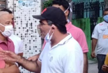 Subprefeito de Itapuã é flagrado em aglomeração e com uso incorreto de máscara | Divulgação