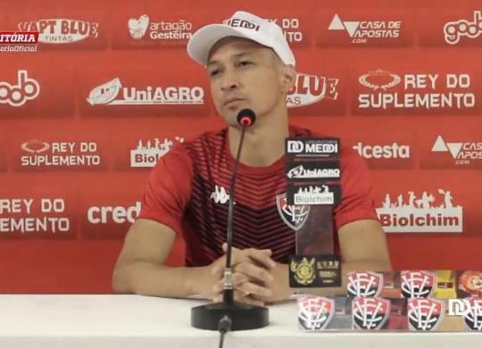 Marcelinho elogia elenco do Vitória e compara a nível europeu | Reprodução | TV Vitória