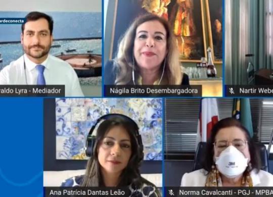 Mesa-redonda discute papel da mulher no sistema jurídico   Reprodução   YouTube
