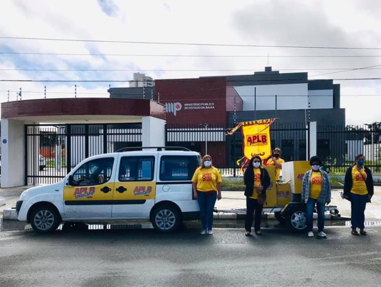 Há duas semanas, integrantes da APLB Sindicato foram ao MP / Foto: Reprodução | Facebook - Foto: Reprodução | Facebook