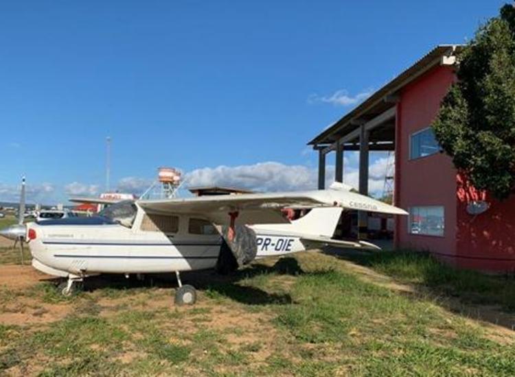 Avião era usado por uma facção para transportar cocaína - Foto: Divulgação | SSP