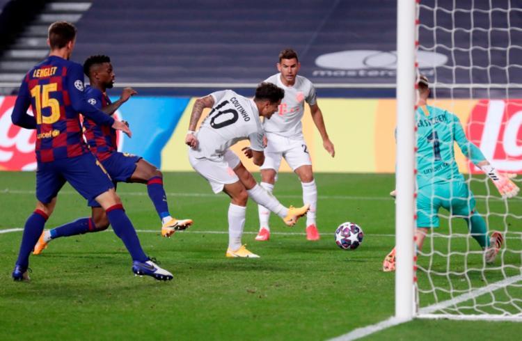 Coutinho marcou dois gols e deu uma assistência na goleada da equipe alemã | Foto: Manu Fernandez | AFP - Foto: Manu Fernandez | AFP