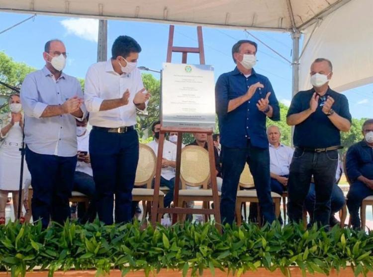 Bolsonaro voltou a fazer propaganda da cloroquina em inauguração de obra no Pará - Foto: Reprodução