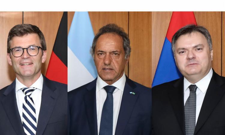 Representantes da Alemanha, Armênia e Argentina foram ao Planalto   Foto: Marcos Corrêa   PR - Foto: Marcos Corrêa   PR