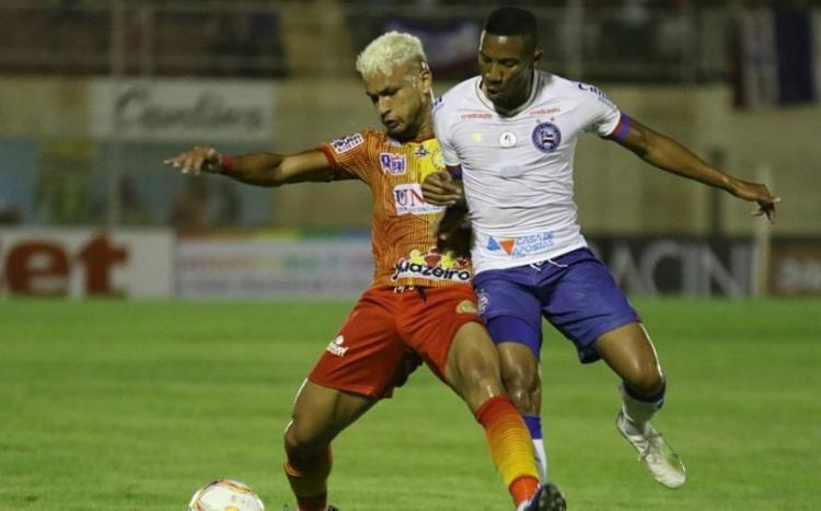 O empate por 1 a 1 com o Juazeirense foi o primeiro jogo do Tricolor no ano   Foto: Felipe Oliveira   E.C.Bahia - Foto: Felipe Oliveira   E.C.Bahia