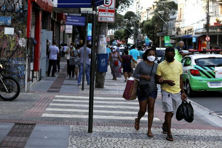 Retomada gradual na capital baiana foi sentida em cinco das seis variáveis   Foto: Felipe Iruatã   Ag. A TARDE - Foto: Felipe Iruatã   Ag. A TARDE