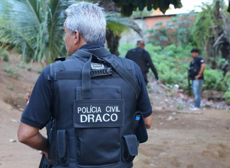 Foragido foi encontrado por equipes do Departamento de Repressão e Combate ao Crime Organizado (Draco) - Foto: Alberto Maraux | Divulgação | SSP