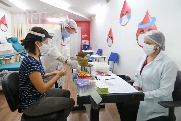 Conforme a coordenação do Hemoba, houve uma redução de cerca de 40% no número de doadores de sangue | Foto: Divulgação - Foto: Divulgação