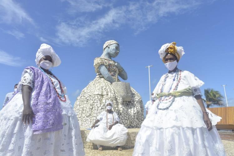 Prefeito lembrou da tradição das pessoas pararem no Largo das Baianas para comprar um acarajé | Foto: Shirley Stolze | Ag. A TARDE
