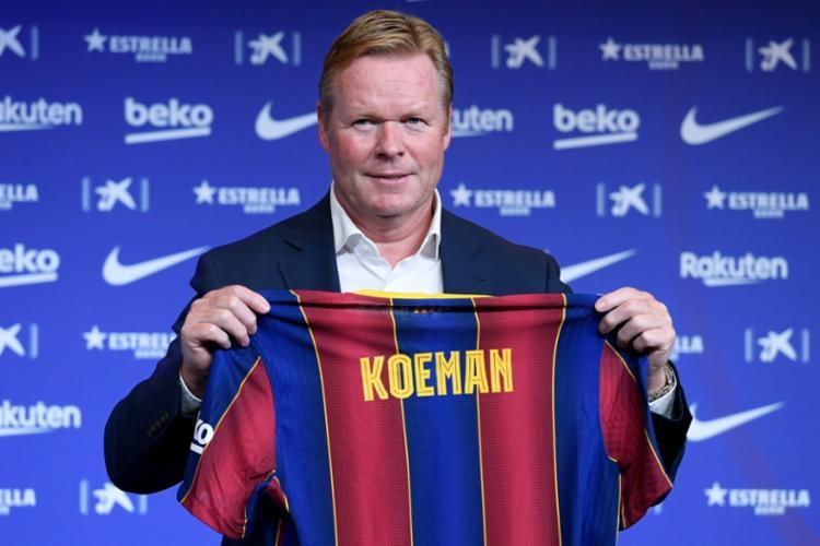 Koeman fez parte do time histórico do Barcelona que foi comandado pelo técnico Johan Cruyff do time histórico do Barcelona que foi comandado pelo técnico Johan Cruyf | Foto: Josep Lago | AFP - Foto: Josep Lago | AFP
