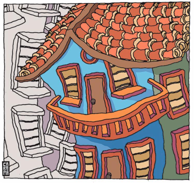 Este apartamento também teme a pandemia porque, dos vizinhos, vêm-lhe cheiros de tudo   Ilustração: Túlio Carapiá   Ag. A TARDE - Foto: Túlio Carapiá   Ag. A TARDE