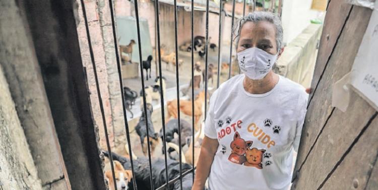 Ângela Gomes recebeu notificação de despejo, mas ganhou um espaço em Simões Filho que não tem muros   Foto: Uendel Galter   Ag. A TARDE - Foto: Uendel Galter   Ag. A TARDE