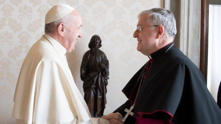 Papa Francisco e Dom Giambattista Diquattro, novo núncio apostólico do Brasil - Foto: Divulgação