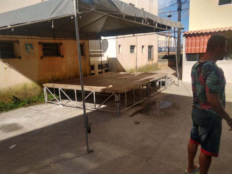 Responsáveis pelo evento foram encontrados e desmontaram o palco   Foto: Divugação   SSP - Foto: Divugação   SSP