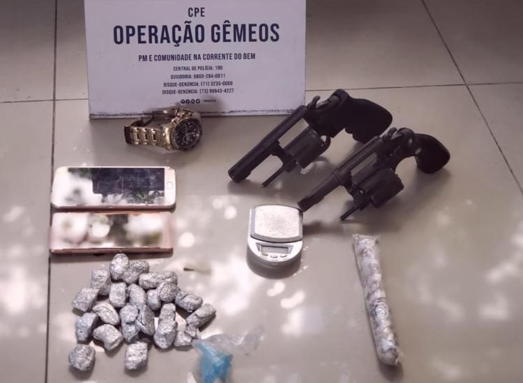 Material foi encontrado com os dois suspeito | Foto: Divulgação | SSP - Foto: Divulgação | SSP