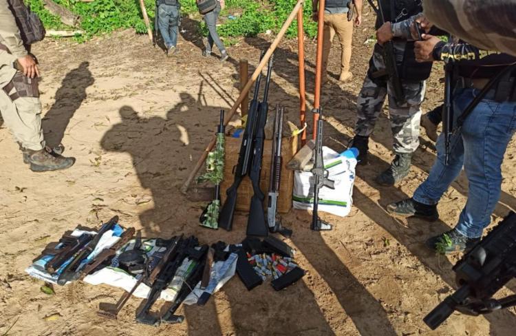 Cinco suspeitos morreram na ação   Foto: Divulgação   SSP-BA - Foto: Divulgação   SSP-BA