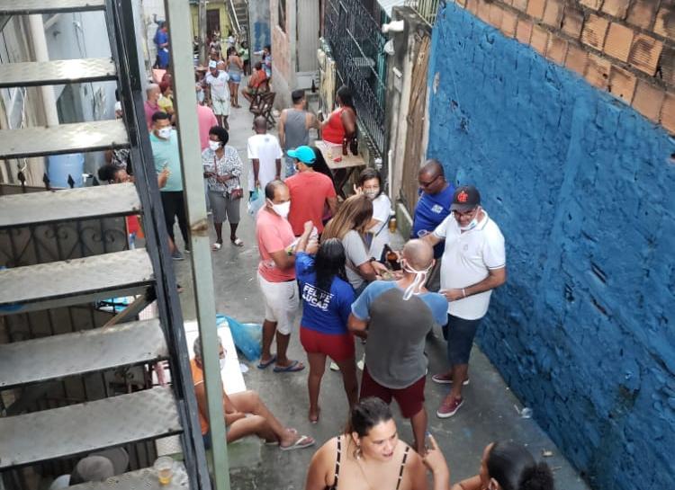 Marco Aurélio é flagrado em aglomeração | Foto: Cidadão Repórter | Via WhatsApp