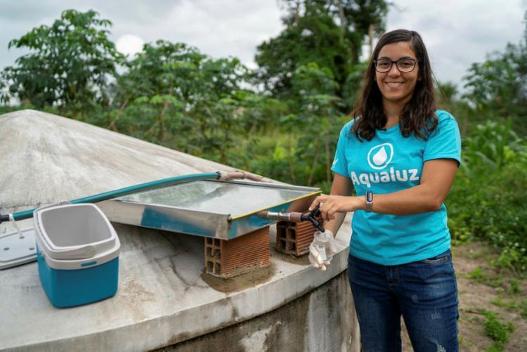 Anna criou dispositivo que torna água de cisterna potável   Foto: ONU   Divulgação - Foto: ONU   Divulgação