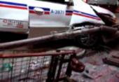 Táxi invade ponto de ônibus na Avenida ACM e deixa quatro feridos | Foto: Foto: Reprodução | Redes Sociais