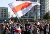 Milhares de manifestantes tomam ruas de Minsk contra Lukashenko | Foto: AFP