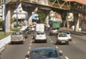 Atropelamento na avenida Bonocô deixa transito congestionado | Foto: